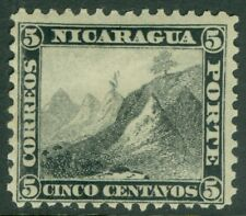 EDW1949SELL : NICARAGUA 1869 Scott #5 Very Fine, Mint Original Gum Catalog $100.