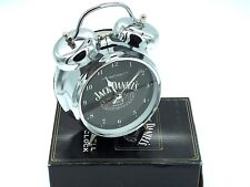 Jack Daniels Old Brand No. 7 Large Double Bell Steel Alarm Clock Boxed New