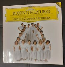 Rossini Overtures - Orpheus Chamber Orchestra LP program signed by singers