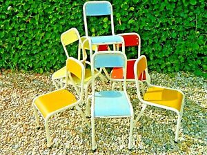 Lovely French Retro Child's School Nursery Wooden/Metal  Chair Four Colours