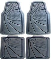 4Pc Universal Heavy Duty Sakura Tyre Tread Rubber Car Mats Non Slip Washable Van