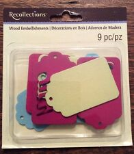 Recollections 312038 Sign Wood Embellishments 9 Pieces New!!!
