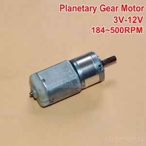 DC 3V-12V 500RPM Large Torque 22mm Micro 280 Planetary Gearbox Gear Motor Robot