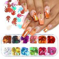 3D Laser Butterfly Sequins Holographic Nail Art Flakes Glitter Foil Decor ❤ ❤ ❤