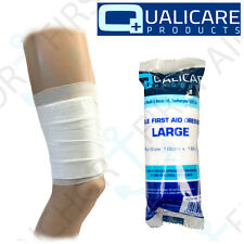 10x LARGE Sterile Dressing NON STICK Conforming Bandages Absorbent Pad 18 x 18cm