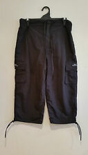 Black 3/4 Pants or Long Board Shorts Cotton Ladies Size S NWOT NEW