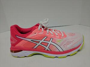 Asics GT-2000 7 Running Shoes, White/Laser Pink, Womens 9.5 M