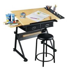 Studio Designs Drafting Table with Stool - Black