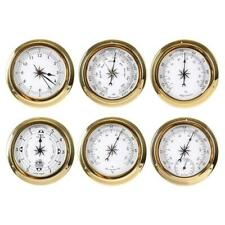 Wall Mounted Thermometer Hygrometer Barometer Watch Tidal Clock Weather Station