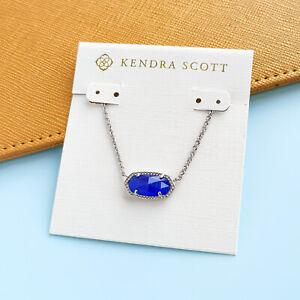 Elisa - Kendra Scott Blue Cats Eye Silver Necklace