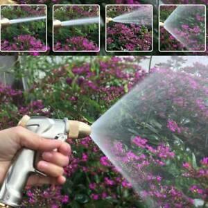 High Pressure Water Spray Gun Metal Brass Nozzle Car Garden Lawn Wash Hose Pipe