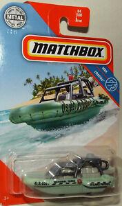 Brand New Matchbox Die Cast Sea Spy Zodiac marked National Parks