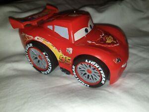 Disney Pixar Cars 2 Lightning McQueen Fisher-Price Shake 'N Go toy car 2010 USED