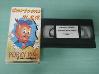 Porky Pig Y Friends Cartoons USA 60 Min - VHS Tape Spanish