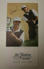 1999 GOLF SIGNED PGA TRADITION PAMPHLET GIL MORGAN VERY RARE AMERICAN GOLF PRO