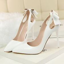 e2e48cd52c Novo anúncioBombas De Feminino Sexy Laço stilettos de salto alto sapatos de  Festa Feminino Eua 6.5   Cn 37 Branco