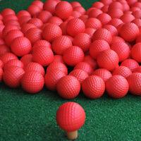 10er Pack rot PU Schaum elastische Golf Schwamm Bälle Praxis Training Indoo J0W6