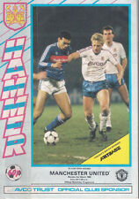 WEST HAM UTD V MANCHESTER UTD~FA CUP RD 5 1986~MATCHDAY PROGRAMME~EXCELLENT~