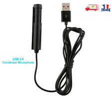 USB 2.0 Microphone à condensateur Micro pour Skype PC Portable Mac Apple MacBook