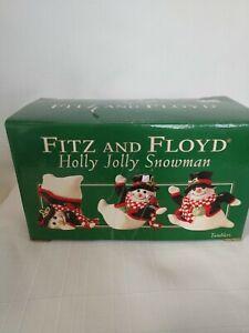 Fitz and Floyd Tumbling Snowmen