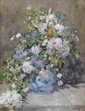 Spring Bouquet 1866 Pierre-Auguste Renoir Vintage Floral Print Poster 11x14