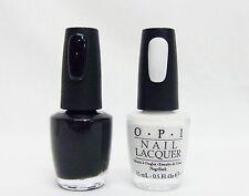 OPI Nail Polish Color Black Onyx  + Alpine Snow T02/L00 .5oz/15mL ~2ct~