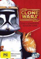 StarWars THE CLONE WARS Animated Series SEASON 1 : vgc DVD   t30