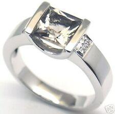 Gorgeous UniqueQuartz Woman Silver Ring S 7.25  #20