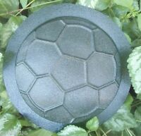 Small soccer stepping stone mold plaque plastic sport mold
