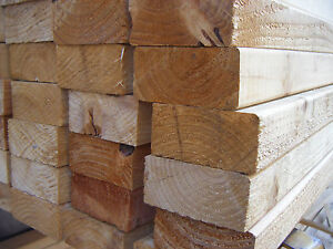 SOFTWOOD UNGRADED  EASED EDGE TIMBER EX 50mm X 75mm (3X2) VARIOUS LENGTHS