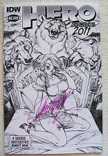 HERO COMICS 2011 #1 SIGNED@CON BY J. SCOTT CAMPBELL IN PINK - NICE COPY - SUBTLE