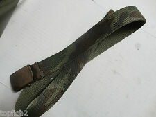 "Military Style 30"" Canvas Belt with Buckle, 1 1/4"" Wide, Camo/Green(New w/o Tag)"