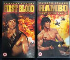 Rambo & Rambo II Vhs films x 2