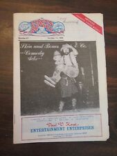 The Circus Report October 13, 1986 Kaye Continental Circus Newsletter
