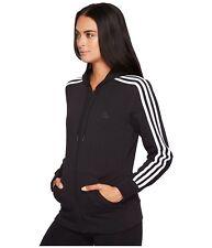 ADIDAS Hoodie Women's Essential 3-Stripe Full Zip Logo Track Jacket XS Black NWT