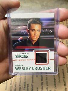 Star Trek The Next Generation Quotable TNG C9 Wesley Costume Card Black