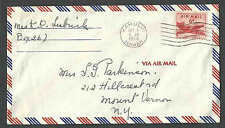 DATED 1954 COVER KAHULU HI TERRITORIAL USAGE 6c AIR MAIL