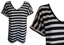 Unbranded Short Sleeve Striped T-Shirts for Women