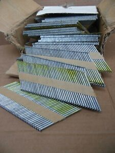 "New 1000 Piece 3 1/4"" X.131 Framing Nails Paper Strip Hot Dipped Smooth Shank"