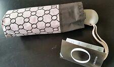 RRP $75.00 Oroton umbrella pale pink brown  BNWT COMPACT SIZE BUTTON OPEN /CLOSE