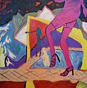 Unikat Moderne Malerei Abstrakt Ölfarbe auf Leinwand Bild von Daniel Pultorak