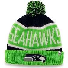 quality design ffd9a de8a9 Seattle Seahawks 47 Brand Knit Hat Calgary Cuff Beanie