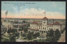 Postcard JACKSONVILLE FL  Early 1900's Business District Aerial view 1907