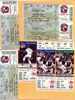 *AWESOME! 16 CINCY REDS FULL TICKETS & STUBS...1985/87/88/02/03/04