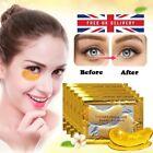10Pcs Crystal Collagen 24k Gold Under Eye Gel Pad Face Mask Anti Aging Wrinkle