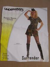 Womens SURRENDER army soldier Sexy Halloween Costume M Md Med Underwraps