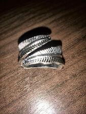 Leaf Wrap Ring 19mm (Medium/Large) ~ Unisex Silver Colour ~ Brand New