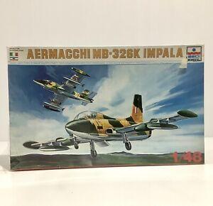 ESCI ERTL Model Kit Aermacchi MB-326K Impala 1/48 - New - Tears To Plastic Wrap