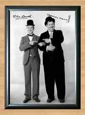 Laurel and Hardy Comedy Signed Autographed A4 Poster Print Photo Photograph TV