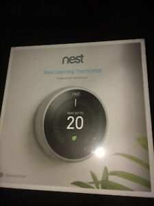 Nest Learning Thermostat, 3rd Generation, Stainless Steel Brand New Sealed
